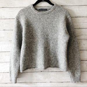 Brandy Melville Gray Cropped Sweater Sz S/M V2